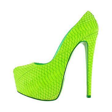 Lime Green Platform Heels